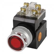 Nút nhấn có đèn LED màu vàng phi 25 CR-254-A0-Y