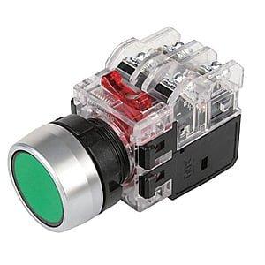 Nút nhấn có đèn màu đỏ viền nhôm MRX-RA1A3R